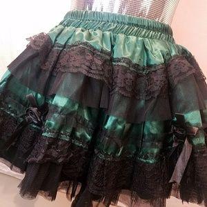 Burleska Lace Ruffle Mini Skirt